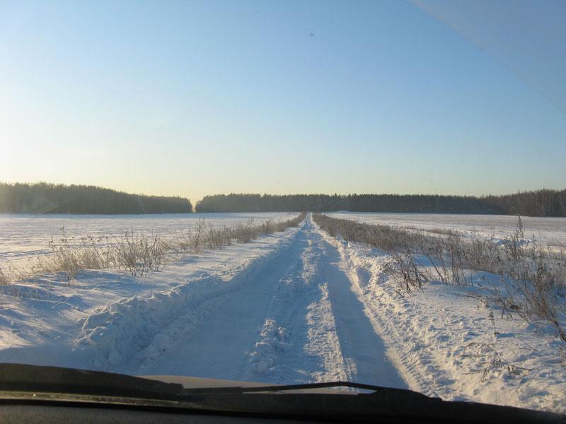 Вперёд по зимней дороге